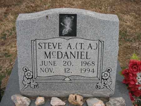 MCDANIEL, STEVE A (T.A.) - Cross County, Arkansas | STEVE A (T.A.) MCDANIEL - Arkansas Gravestone Photos