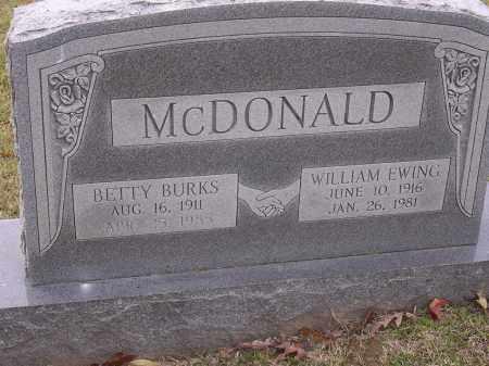 MCDONALD, BETTY - Cross County, Arkansas | BETTY MCDONALD - Arkansas Gravestone Photos