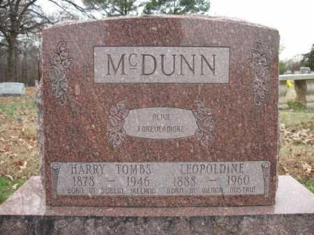 MCDUNN, HARRY TOMBS - Cross County, Arkansas | HARRY TOMBS MCDUNN - Arkansas Gravestone Photos