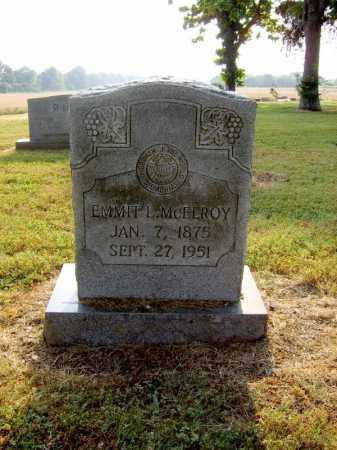 MCELROY, EMMIT L - Cross County, Arkansas   EMMIT L MCELROY - Arkansas Gravestone Photos