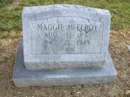 MCELROY, MAGGIE - Cross County, Arkansas | MAGGIE MCELROY - Arkansas Gravestone Photos