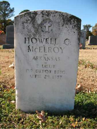 MCELROY (VETERAN), HOWELL C - Cross County, Arkansas | HOWELL C MCELROY (VETERAN) - Arkansas Gravestone Photos
