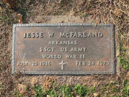 MCFARLAND (VETERAN WWII), JESSE W - Cross County, Arkansas | JESSE W MCFARLAND (VETERAN WWII) - Arkansas Gravestone Photos