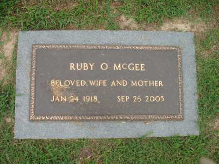 MCGEE, RUBY O - Cross County, Arkansas | RUBY O MCGEE - Arkansas Gravestone Photos