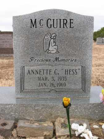 MCGUIRE, ANNETTE C - Cross County, Arkansas | ANNETTE C MCGUIRE - Arkansas Gravestone Photos