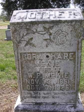 HARE MCKIE, CORA - Cross County, Arkansas | CORA HARE MCKIE - Arkansas Gravestone Photos
