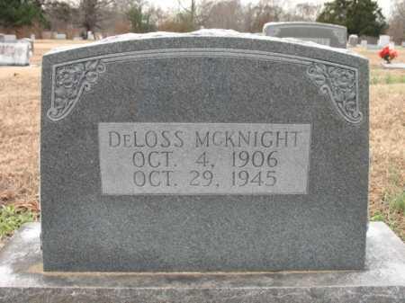 MCKNIGHT, DELOSS - Cross County, Arkansas | DELOSS MCKNIGHT - Arkansas Gravestone Photos
