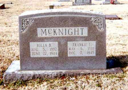 MCKNIGHT, FRANKIE L - Cross County, Arkansas | FRANKIE L MCKNIGHT - Arkansas Gravestone Photos
