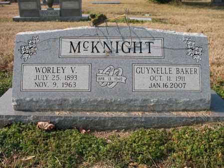 BAKER MCKNIGHT, GUYNELLE - Cross County, Arkansas | GUYNELLE BAKER MCKNIGHT - Arkansas Gravestone Photos