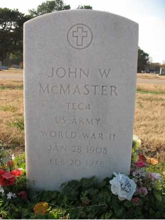 MCMASTER (VETERAN WWII), JOHN W - Cross County, Arkansas | JOHN W MCMASTER (VETERAN WWII) - Arkansas Gravestone Photos