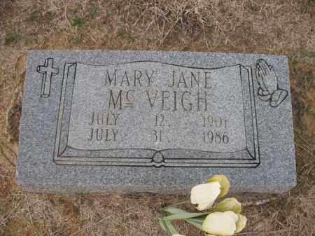 MCVEIGH, MARY JANE - Cross County, Arkansas | MARY JANE MCVEIGH - Arkansas Gravestone Photos
