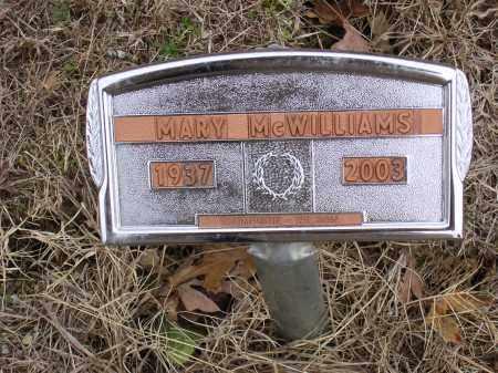 DEAN MCWILLIAMS, MARY ALICE - Cross County, Arkansas   MARY ALICE DEAN MCWILLIAMS - Arkansas Gravestone Photos