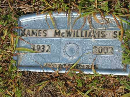MCWILLIAMS, SR., JAMES - Cross County, Arkansas | JAMES MCWILLIAMS, SR. - Arkansas Gravestone Photos