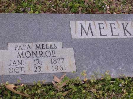 MEEKS, MONROE - Cross County, Arkansas | MONROE MEEKS - Arkansas Gravestone Photos