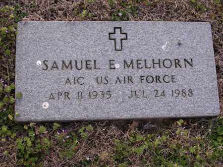 MELHORN  (VETERAN), SAMUEL E - Cross County, Arkansas | SAMUEL E MELHORN  (VETERAN) - Arkansas Gravestone Photos