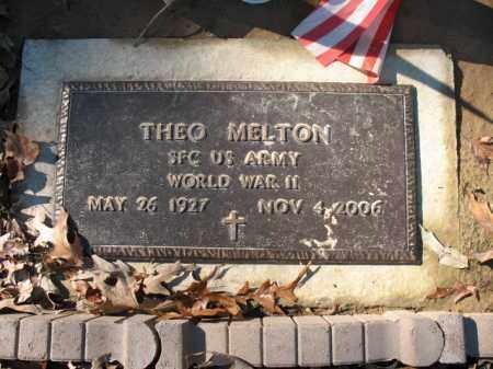 MELTON (VETERAN WWII), THEO - Cross County, Arkansas | THEO MELTON (VETERAN WWII) - Arkansas Gravestone Photos
