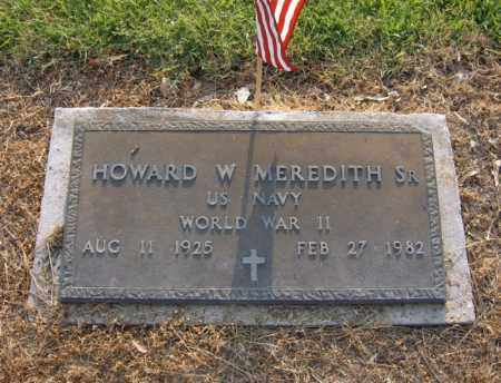 MEREDITH, SR (VETERAN WWII), HOWARD W - Cross County, Arkansas | HOWARD W MEREDITH, SR (VETERAN WWII) - Arkansas Gravestone Photos