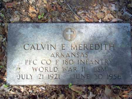 MEREDITH (VETERAN WWII), CALVIN E - Cross County, Arkansas | CALVIN E MEREDITH (VETERAN WWII) - Arkansas Gravestone Photos