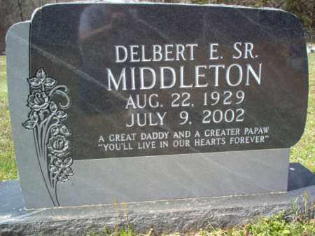 MIDDLETON, SR., DELBERT E - Cross County, Arkansas   DELBERT E MIDDLETON, SR. - Arkansas Gravestone Photos