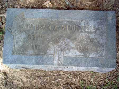 MIDDLETON, VERNON A - Cross County, Arkansas | VERNON A MIDDLETON - Arkansas Gravestone Photos