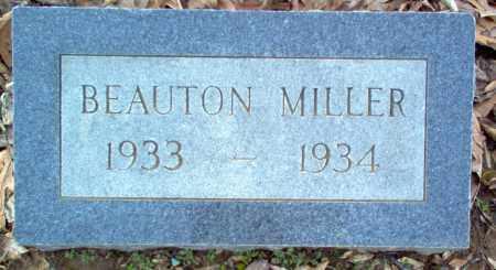 MILLER, BEAUTON - Cross County, Arkansas | BEAUTON MILLER - Arkansas Gravestone Photos