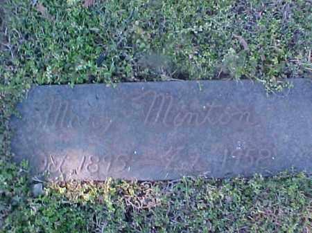 MINTON, MARY - Cross County, Arkansas | MARY MINTON - Arkansas Gravestone Photos