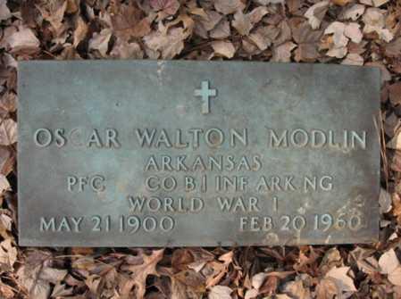 MODLIN  (VETERAN WWI), OSCAR WALTON - Cross County, Arkansas | OSCAR WALTON MODLIN  (VETERAN WWI) - Arkansas Gravestone Photos
