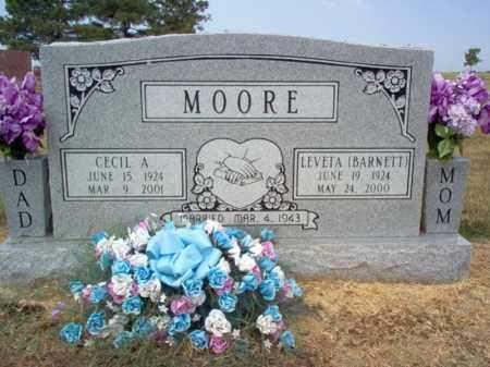 MOORE, CECIL A - Cross County, Arkansas | CECIL A MOORE - Arkansas Gravestone Photos