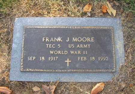 MOORE (VETERAN WWII), FRANK JAMES - Cross County, Arkansas | FRANK JAMES MOORE (VETERAN WWII) - Arkansas Gravestone Photos