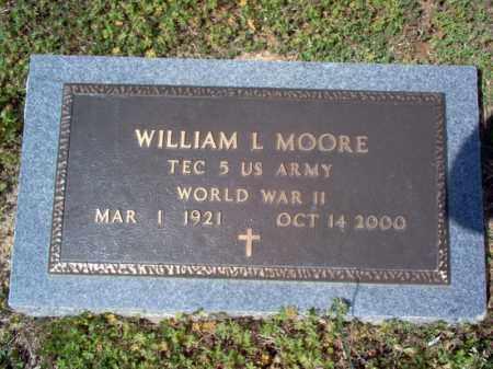MOORE (VETERAN WWII), WILLIAM L - Cross County, Arkansas   WILLIAM L MOORE (VETERAN WWII) - Arkansas Gravestone Photos