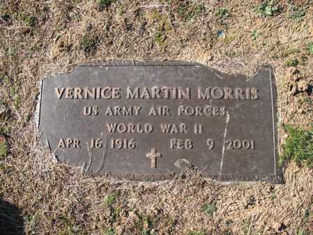 MORRIS (VETERAN WWII), VERNICE MARTIN - Cross County, Arkansas | VERNICE MARTIN MORRIS (VETERAN WWII) - Arkansas Gravestone Photos