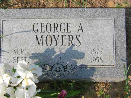 MOYERS, GEORGE ARTHUR - Cross County, Arkansas | GEORGE ARTHUR MOYERS - Arkansas Gravestone Photos