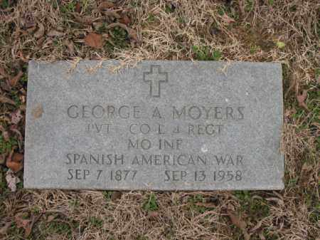 MOYERS (VETERAN SAW), GEORGE A - Cross County, Arkansas | GEORGE A MOYERS (VETERAN SAW) - Arkansas Gravestone Photos