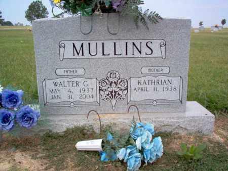 MULLINS, WALTER G - Cross County, Arkansas   WALTER G MULLINS - Arkansas Gravestone Photos