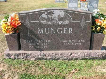 MUNGER, CARL FRANKLIN - Cross County, Arkansas | CARL FRANKLIN MUNGER - Arkansas Gravestone Photos