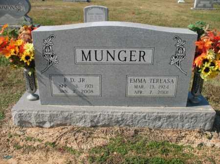MUNGER, JR., F D - Cross County, Arkansas | F D MUNGER, JR. - Arkansas Gravestone Photos