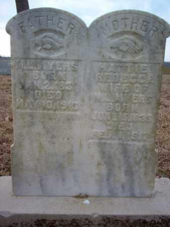 MYERS, HATTIE REBECCA - Cross County, Arkansas | HATTIE REBECCA MYERS - Arkansas Gravestone Photos