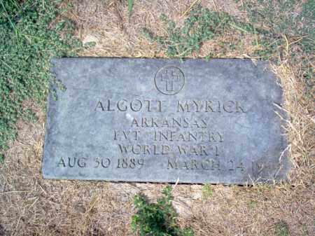 MYRICK (VETERAN WWI), ALGOTT - Cross County, Arkansas | ALGOTT MYRICK (VETERAN WWI) - Arkansas Gravestone Photos