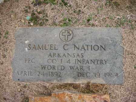 NATION (VETERAN WWI), SAMUEL C - Cross County, Arkansas   SAMUEL C NATION (VETERAN WWI) - Arkansas Gravestone Photos