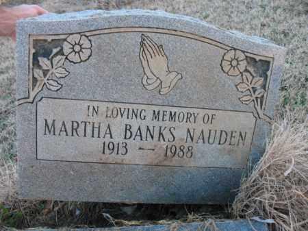 BANKS NAUDEN, MARTHA - Cross County, Arkansas | MARTHA BANKS NAUDEN - Arkansas Gravestone Photos