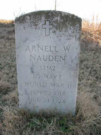 NAUDEN (VETERAN WWII), ARNELL W - Cross County, Arkansas | ARNELL W NAUDEN (VETERAN WWII) - Arkansas Gravestone Photos