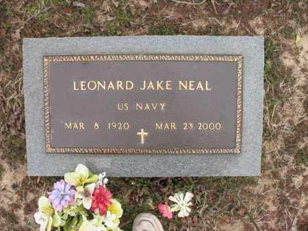 NEAL (VETERAN), LEONARD JAKE - Cross County, Arkansas | LEONARD JAKE NEAL (VETERAN) - Arkansas Gravestone Photos