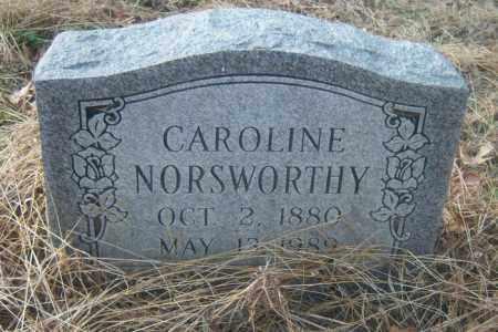 NORSWORTHY, CAROLINE - Cross County, Arkansas | CAROLINE NORSWORTHY - Arkansas Gravestone Photos