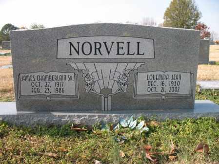 NORVELL, SR., JAMES CHAMBERLAIN - Cross County, Arkansas | JAMES CHAMBERLAIN NORVELL, SR. - Arkansas Gravestone Photos