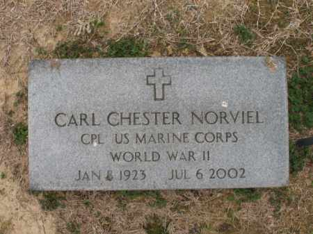 NORVIEL (VETERAN WWII), CARL CHESTER - Cross County, Arkansas | CARL CHESTER NORVIEL (VETERAN WWII) - Arkansas Gravestone Photos