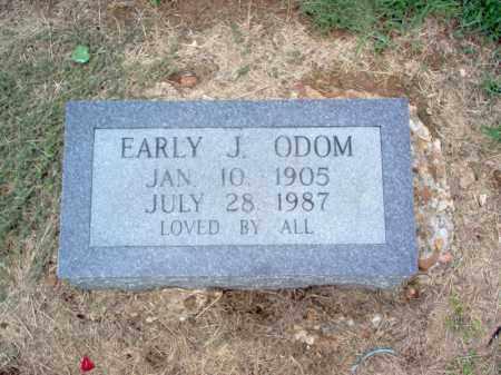 ODOM, EARLY J - Cross County, Arkansas | EARLY J ODOM - Arkansas Gravestone Photos