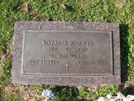 PARKER (VETERAN WWII), ROYAL E - Cross County, Arkansas   ROYAL E PARKER (VETERAN WWII) - Arkansas Gravestone Photos