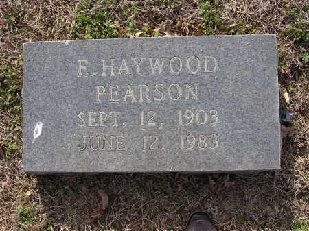 PEARSON, E HAYWOOD - Cross County, Arkansas | E HAYWOOD PEARSON - Arkansas Gravestone Photos