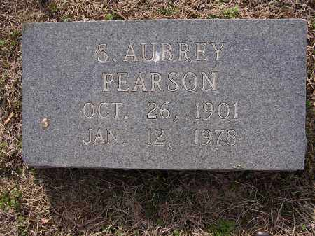 PEARSON, S AUBREY - Cross County, Arkansas | S AUBREY PEARSON - Arkansas Gravestone Photos