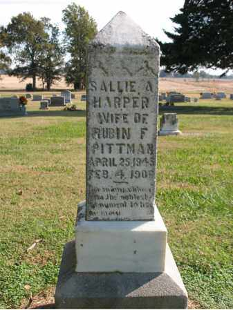 PITTMAN, SALLIE A - Cross County, Arkansas | SALLIE A PITTMAN - Arkansas Gravestone Photos